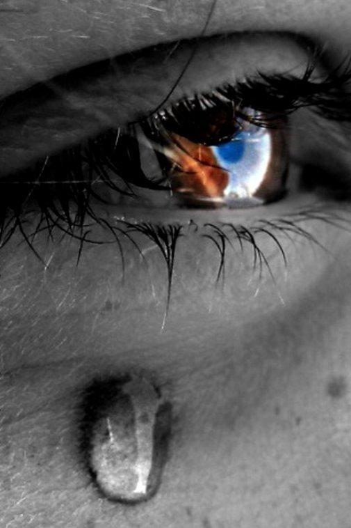 Открытки, картинки со слезами на глазах девушек с надписями