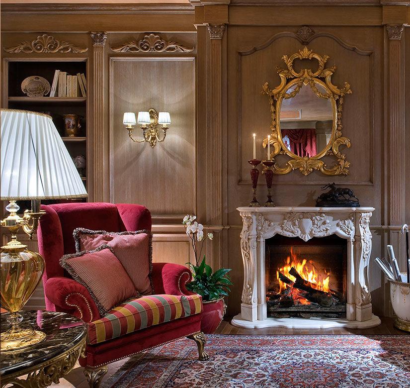 могут гостиной в классическом стиле с камином фото самое прогрессивное