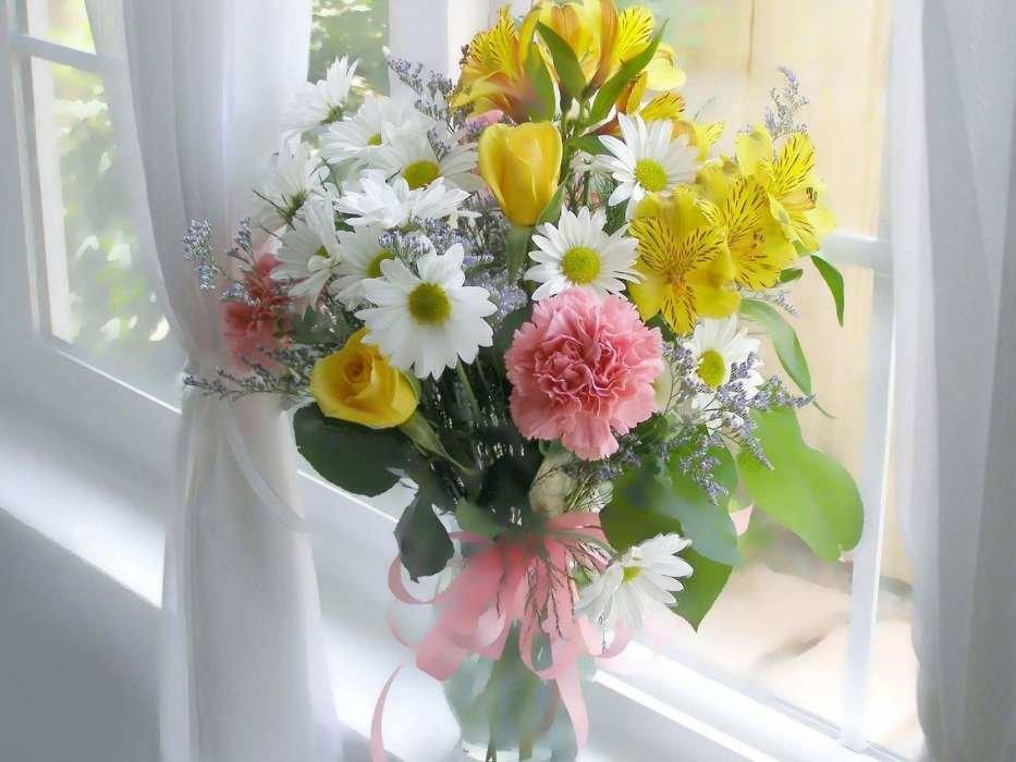 Букет с пожеланиями доброго дня, цветов