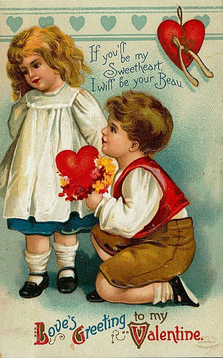 Винтажные открытки валентинки, любовные поздравления, любовные стихи