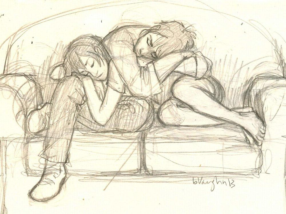 Поцелуй перед сном картинки карандашом, для друзей прикольные