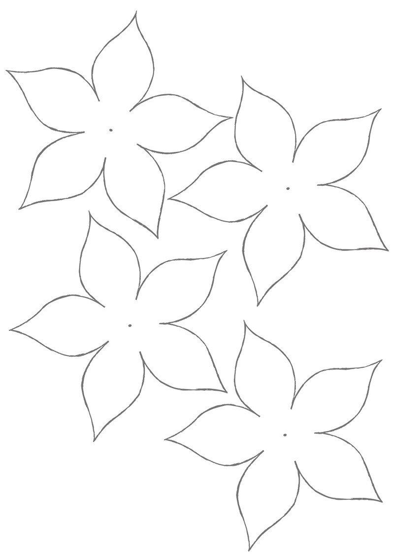 Шаблоны цветы для вырезания из бумаги распечатать, день