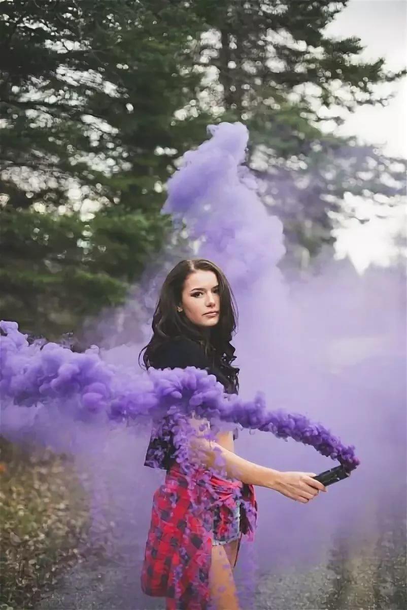 евгения фото с цветным дымом идеи это