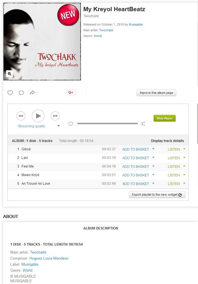 Twochakk - My Kreyol HeartBeatz  Optimize
