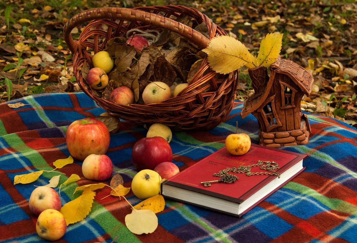 красивые осенние картинки с яблоками речь