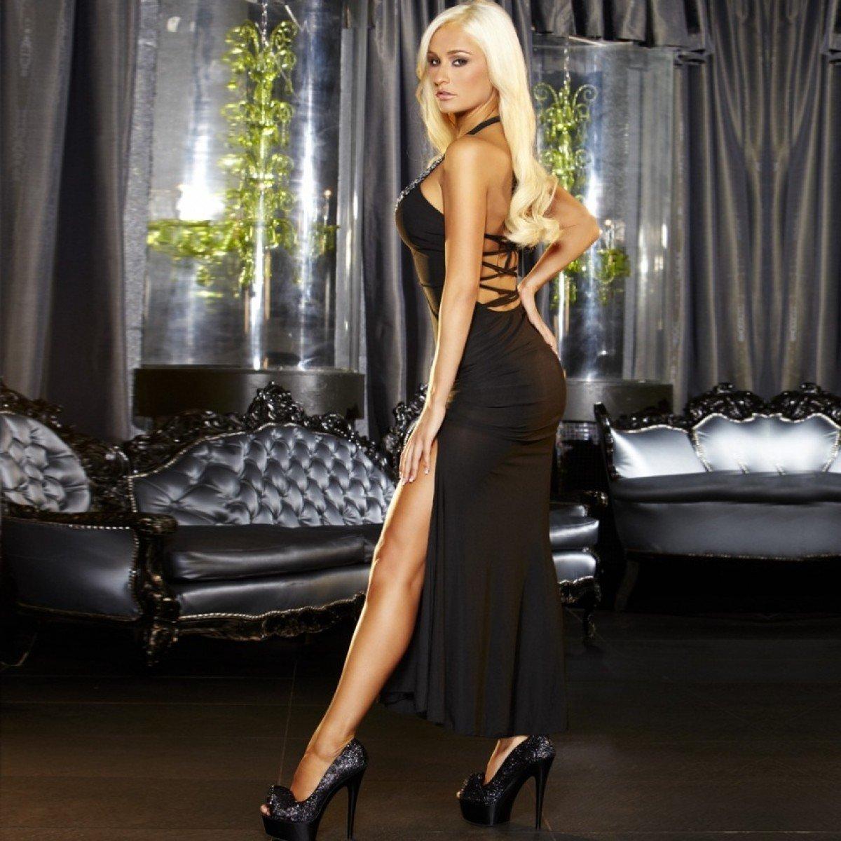секси бизнес леди в вечернем платье фото эта