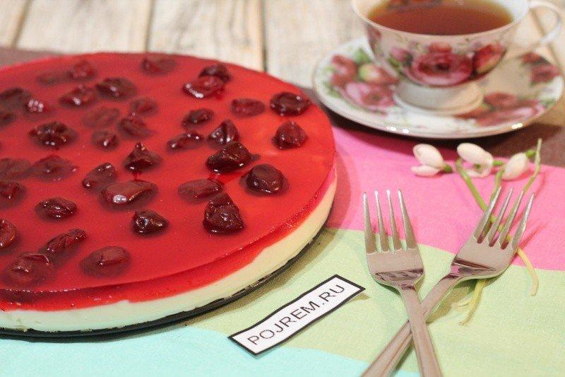 Торт с вишней - простой и быстрый рецепт приготовления в домашних условиях.