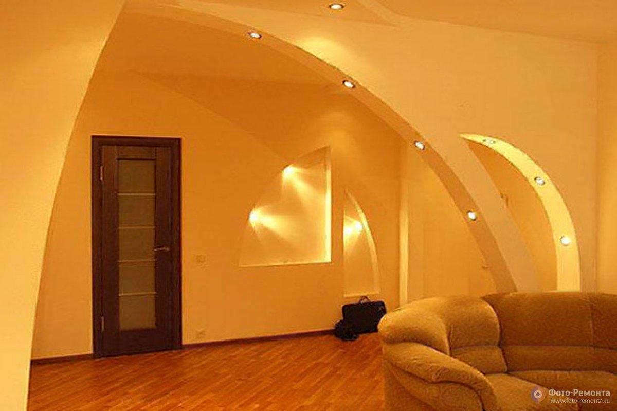 Смотреть фото декора дома из гипсокартона