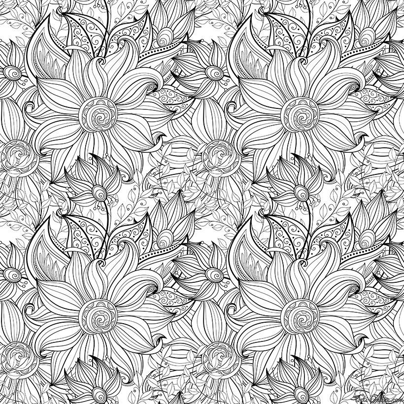 «Раскраска Антистресс Цветы и лепестки. Скачать или ...