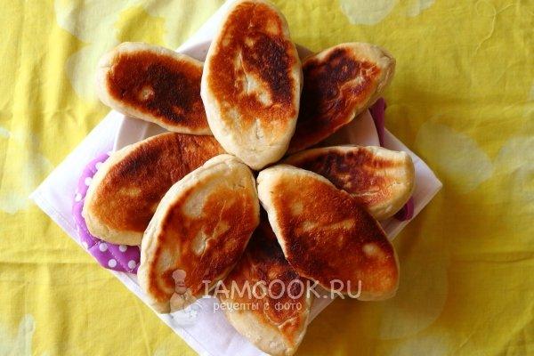 пирожки постные жареные с капустой