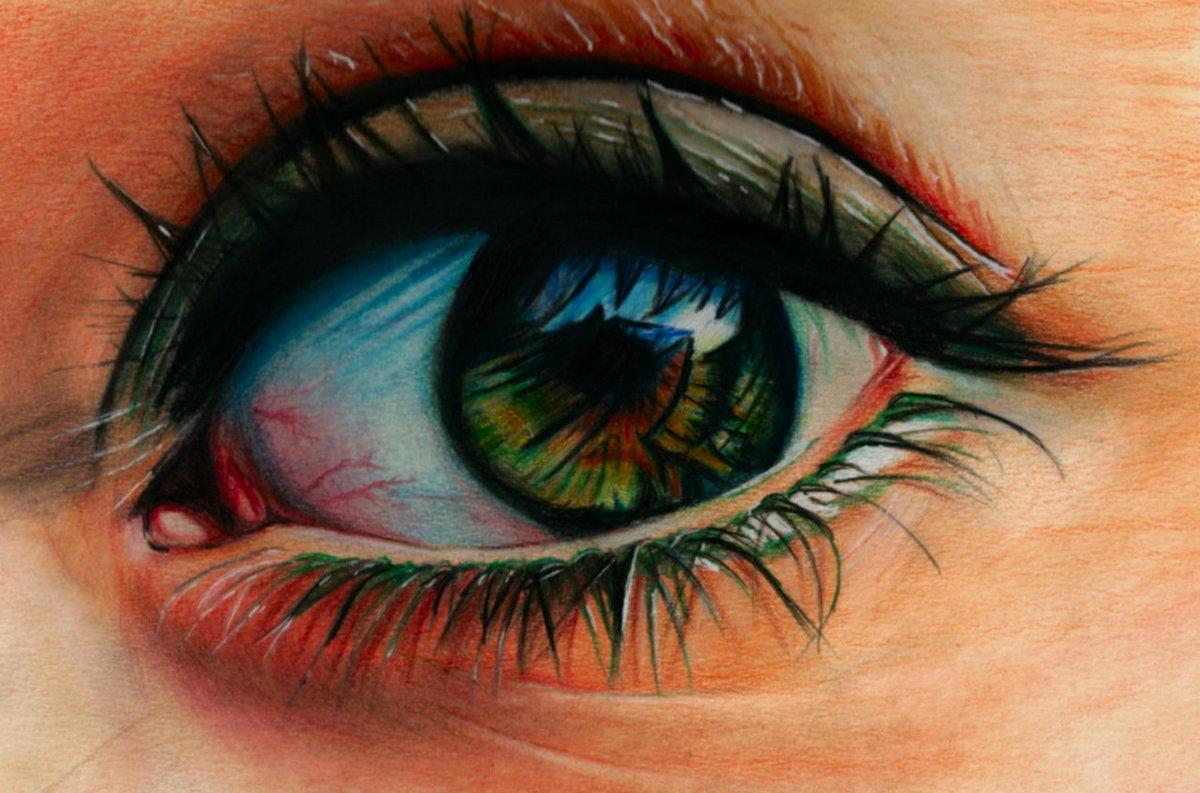 Стрелки для круглых глаз пошаговое фото