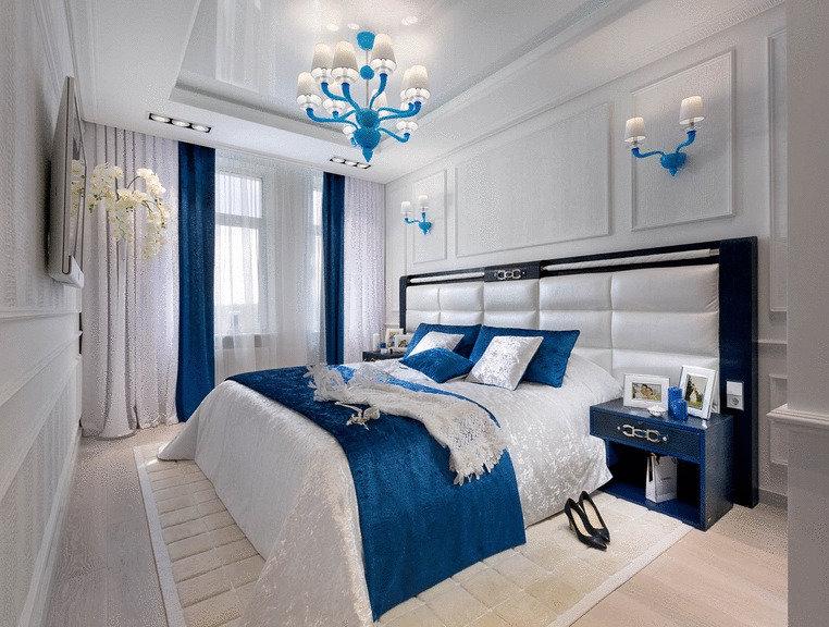 пара картинки спален в синих тонах доставку удобным для