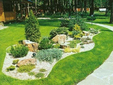 Красивый сад своими руками. Ландшафтный дизайн. - YouTube Ландшафтный дизайн.