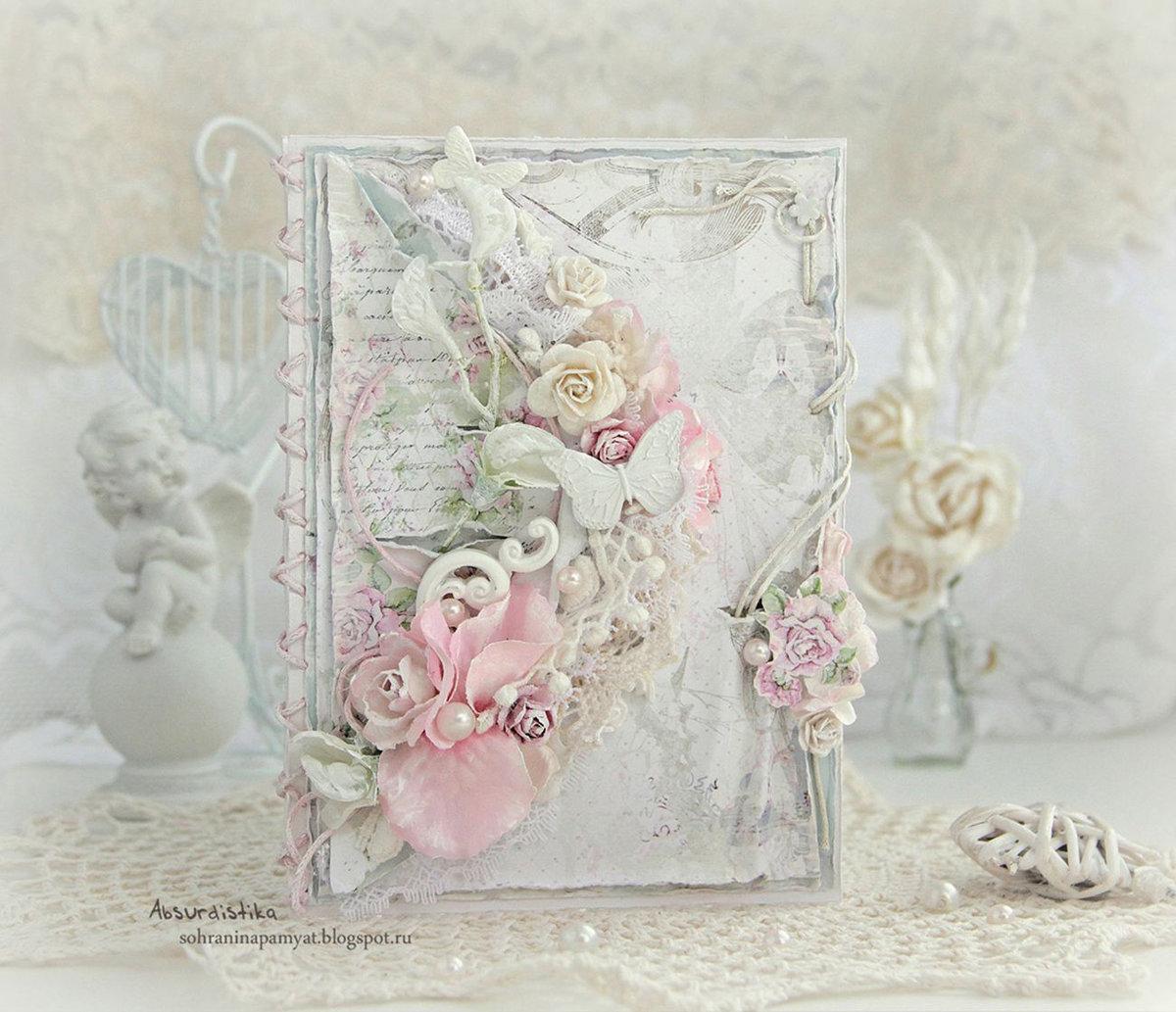 Открытки в стиле шебби шик на свадьбу
