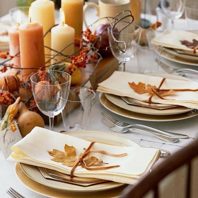 осенний праздничный стол фото
