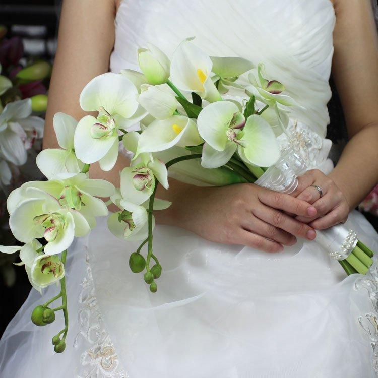 Каталог букет из орхидей для невесты, невесты коричневых тонах