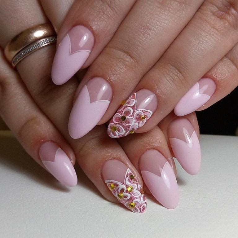 гель лак розовый дизайн фото 2
