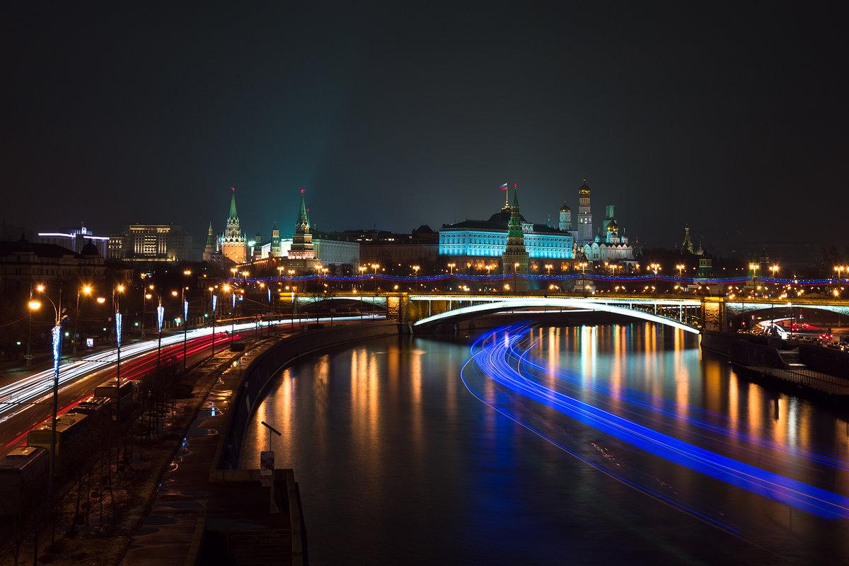 Картинки москва ночью