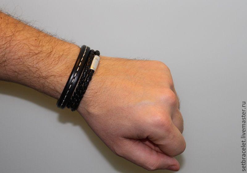фото мужские кожаные браслеты