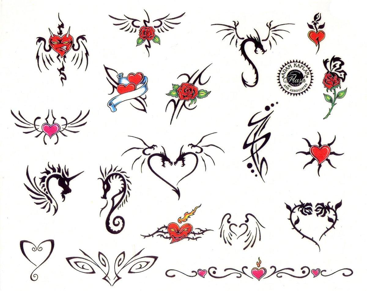 Прикольные рисунки татушек, открытки новый год