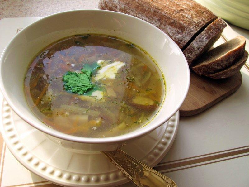 суп из белых свежих грибов рецепт с перловкой