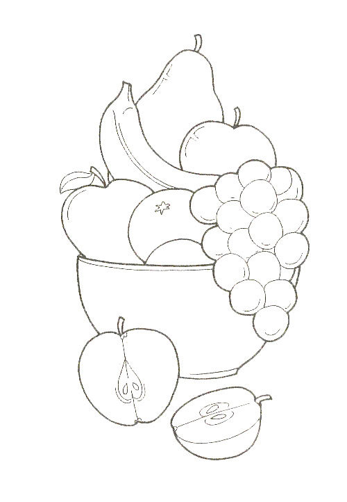 Мужчине, рисунок фрукты на столе