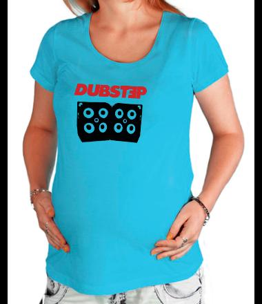 Футболка для беременных Dubstep с колонками