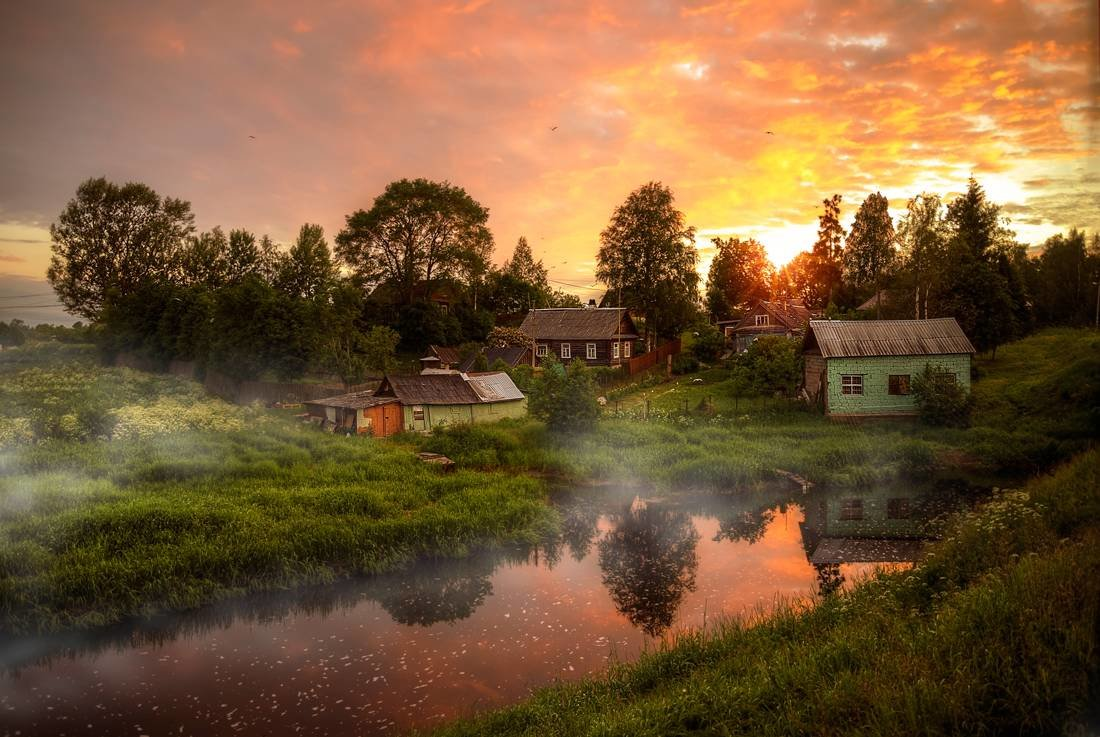 Днем, картинки о селе деревне