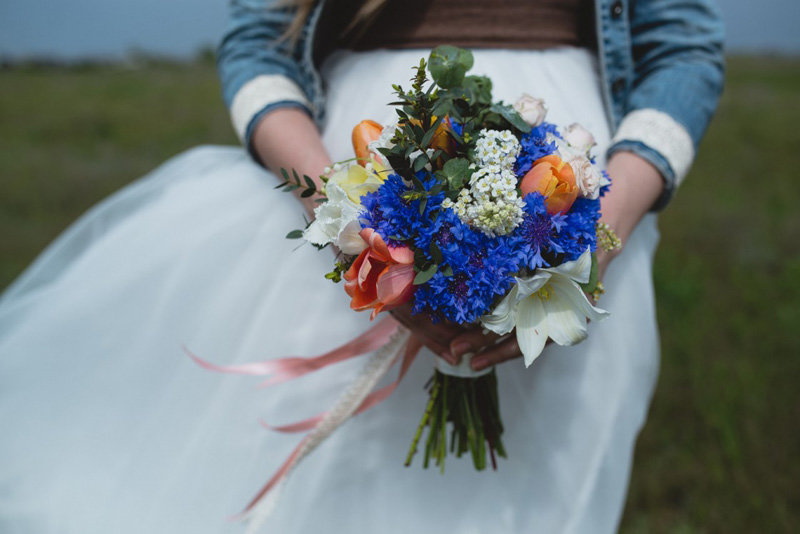 Свадебный букет невесты из васильков минск
