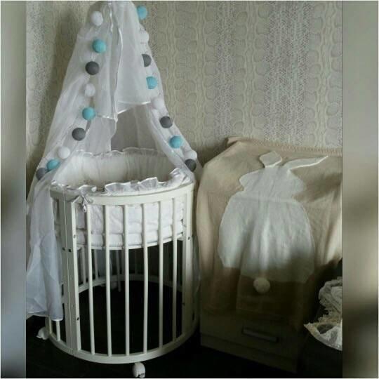 Фото украшений на детскую кроватку 50