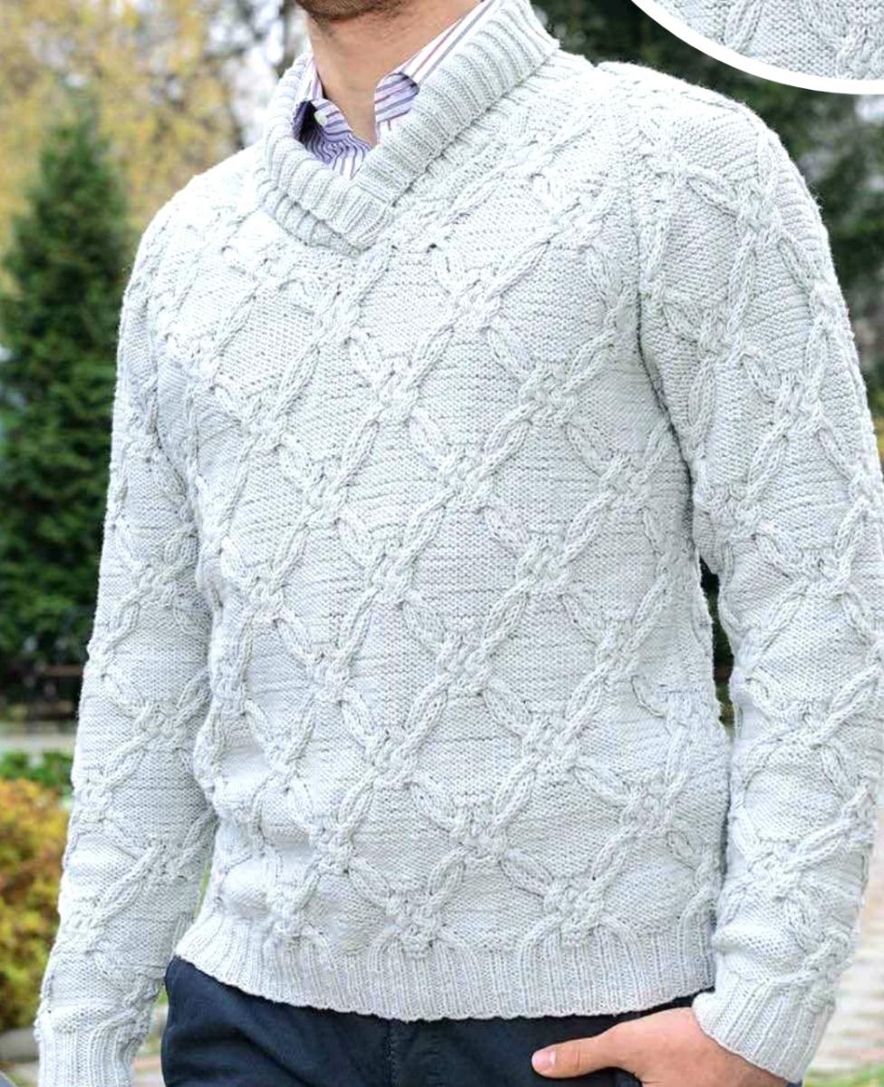 Пуловер Вязаный Мужской