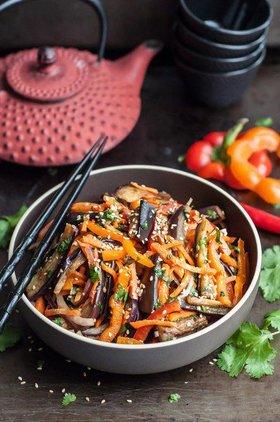 Баклажанный салат по-азиатски