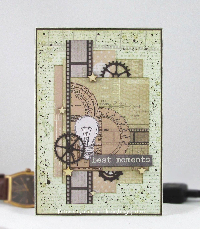 Мужские открытки ручной работы скрапбукинг