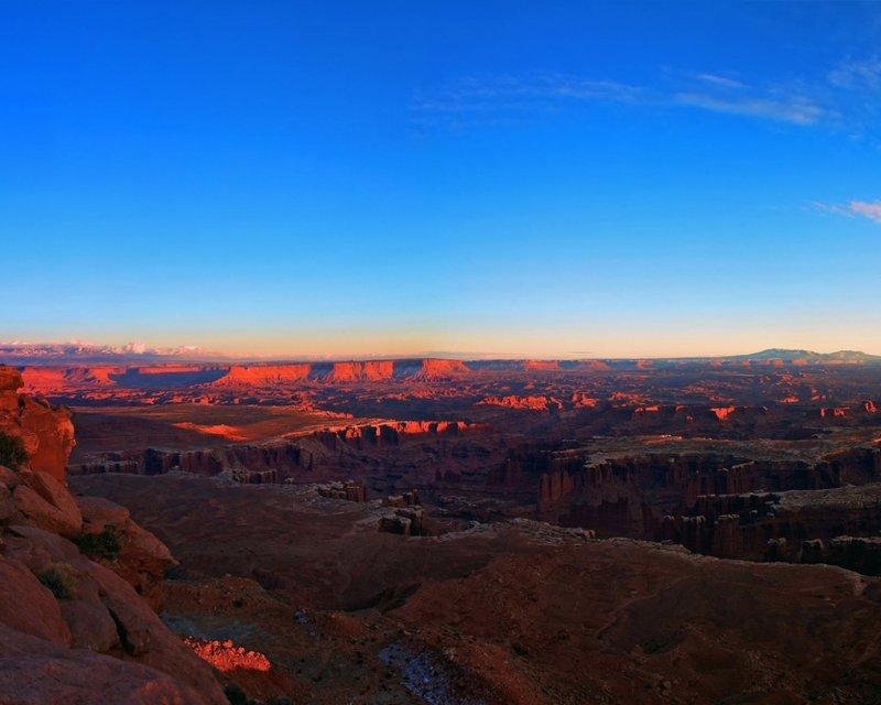 Каньон,закат,небо.