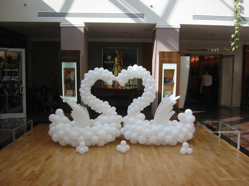 Лебеди из шаров своими руками фото 937