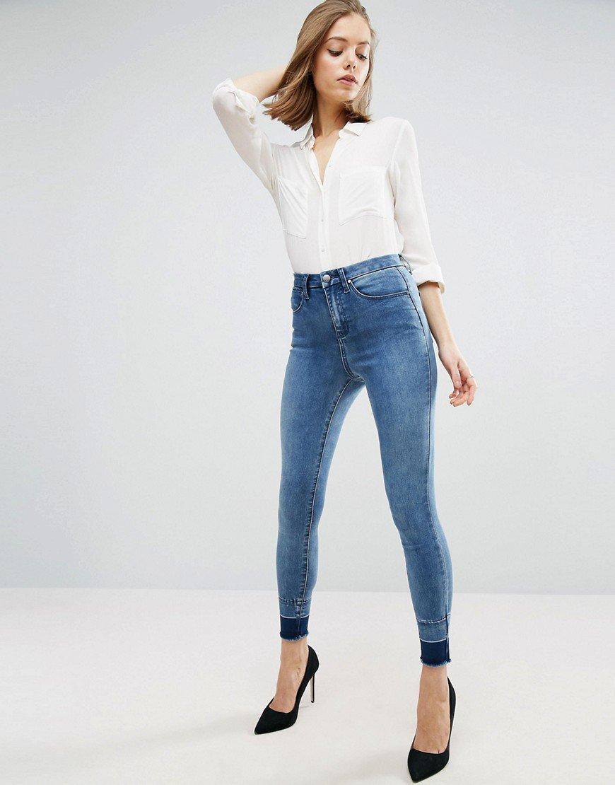 Узкие джинсы Asos с высокой посадкой