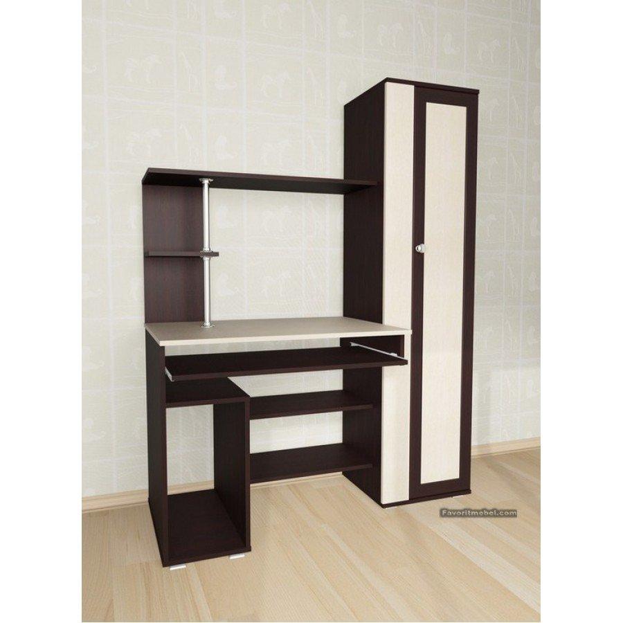 Компьютерный стол мебелайн-31 купить со шкафом-колонкой в ви.