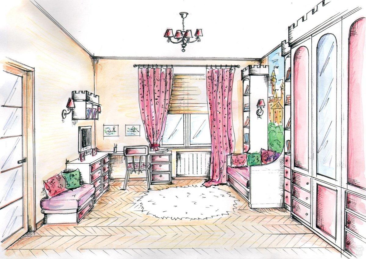рисунки интерьеров комнат умолчанию будете