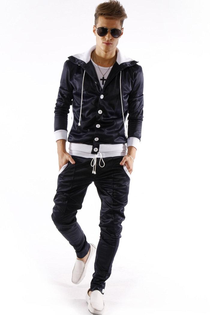 669466644ab Спортивный костюм мужской Молодежная модная одежда