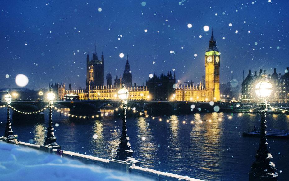 Зима пришла, зимняя англия открытка