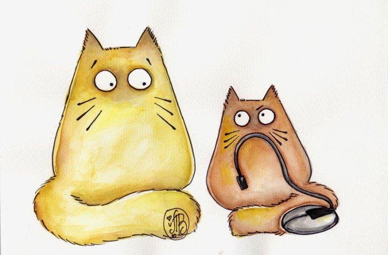 больничного рисунки смешные коты рисуем сожалению
