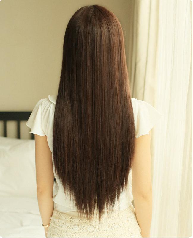 картинки прямых волос со спины крестовым валетом