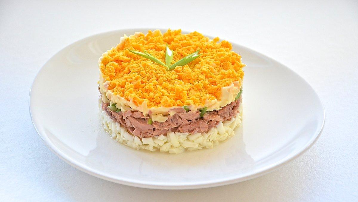 Открытка маме, салат мимоза в картинках
