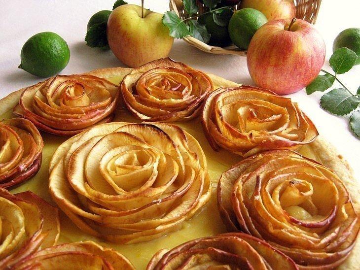 яблочный пирог роза рецепт с фото бокал вина любимого