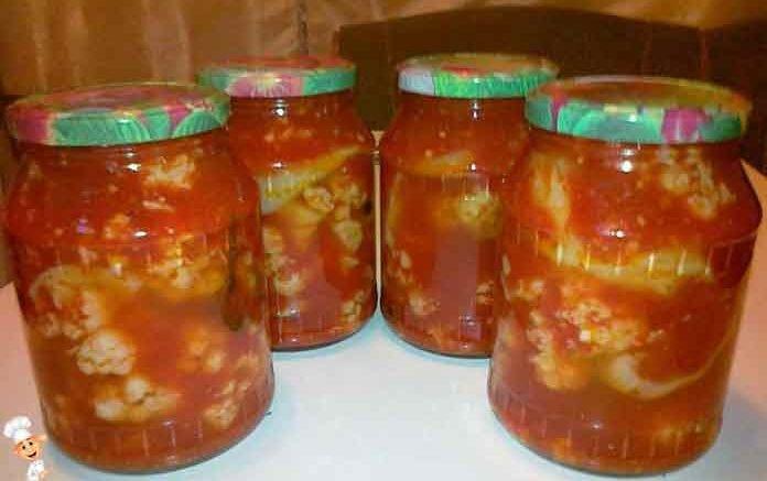 цветная капуста салат заготовки на зиму рецепт