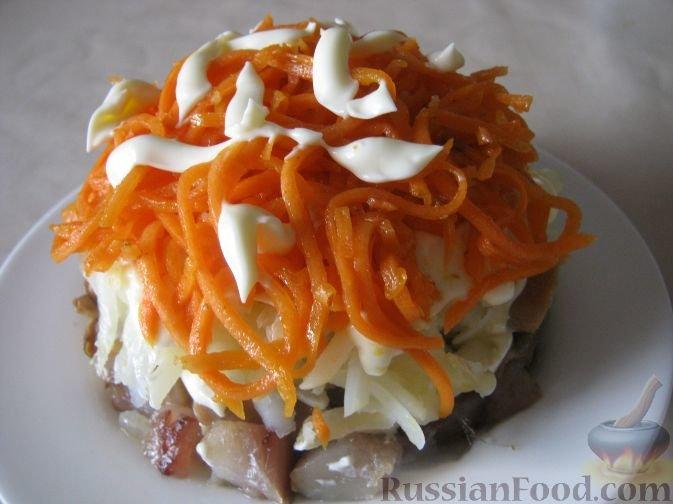 Праздничные салаты салат лисья шубка