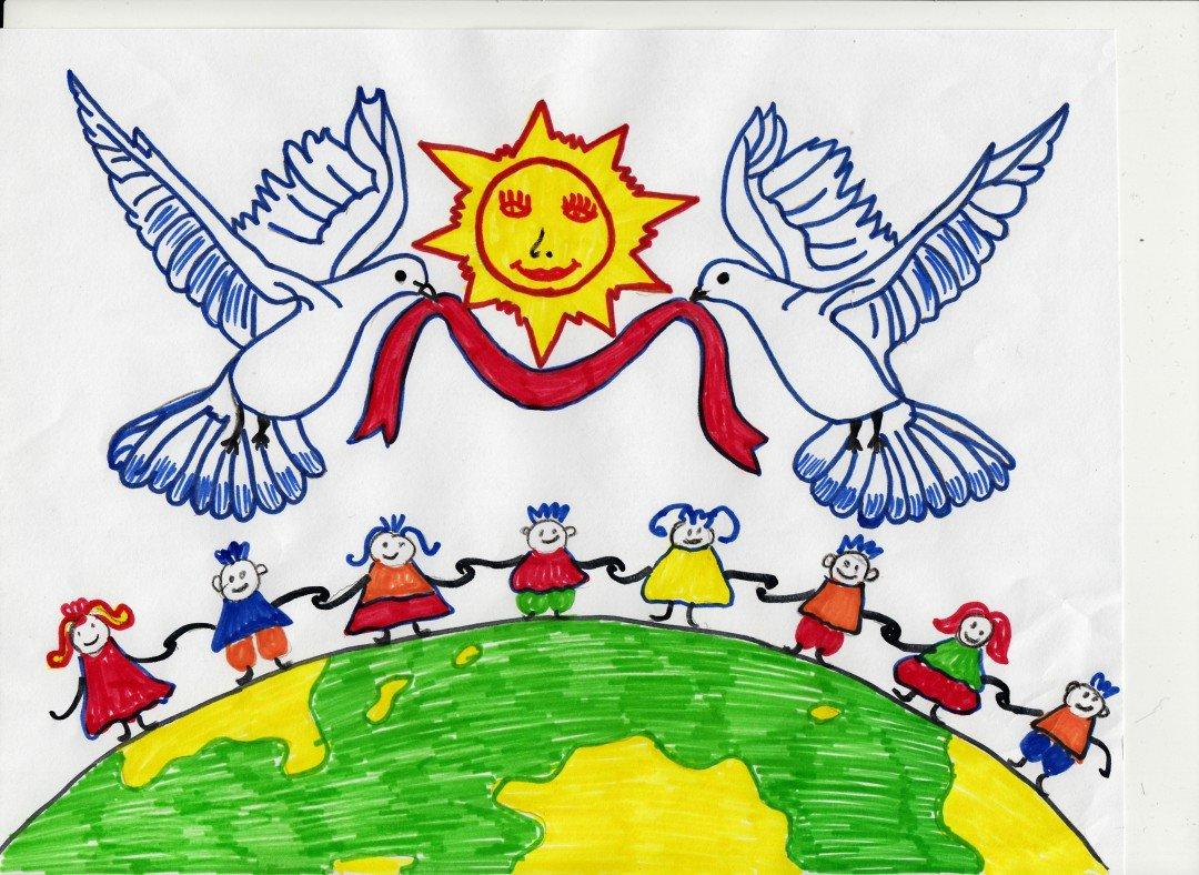Рисунок за мир во всем мире