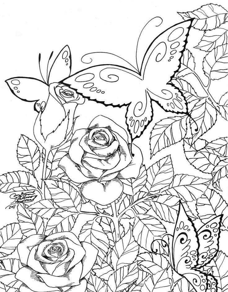 Днем программиста, раскраски цветы распечатать формат а4 для девочек