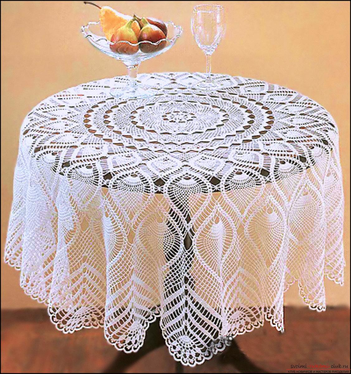 Скатерть на круглый стол своими руками фото фото 55