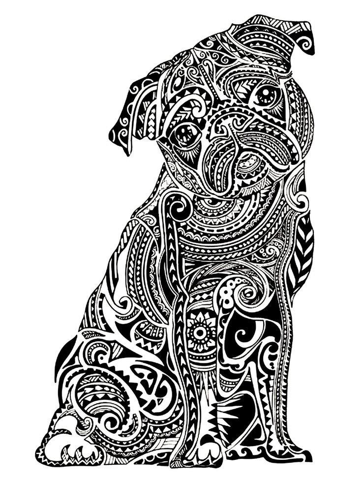 «Раскраска-антистресс собака мопс» — карточка пользователя ...